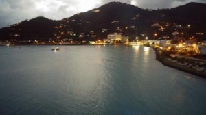 View of Tortola as the Ship Sets to Sea