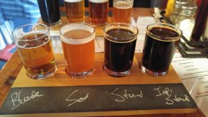Flight at Big Axe Brewing Company
