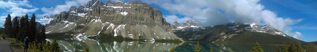 Bow Lake Alberta Panorama